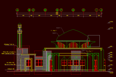 دانلود پک 8 عددی پلان معماری مسجد اتوکد DWG