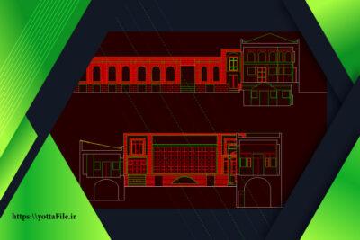 پروژه معماری طراحی مسجد با اتوکد DWG