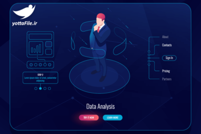 دانلود وکتور رابط کاربری واقعیت مجازی تحلیل داده ها - یوتا فایل مرجع فروش فایل