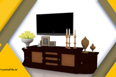 دانلود پک 5 عددی مدل سه بعدی میز تلویزیون و قفسه با فرمت MAX - یوتا فایل مرجع دانلود و فروش فایل