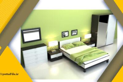دانلود مدل های آماده سه بعدی سرویس اتاق خواب | یوتا فایل مرجع فایل های سه بعدی