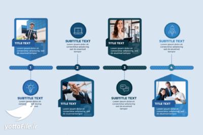 دانلود اینفوگرافیک لایه باز کسب و کار مجموعه مراحل طراحی | یوتا فایل مرجع دانلود و فروش فایل