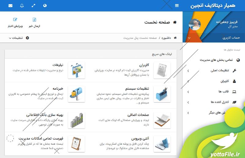 دانلود سورس سیستم مدیریت محتوای دیتالایف انجین فارسی DatalifeEngine ، مزایای استفاده از دیتا لایف انجین  | یوتا فایل مرجع فروش و دانلود فایل