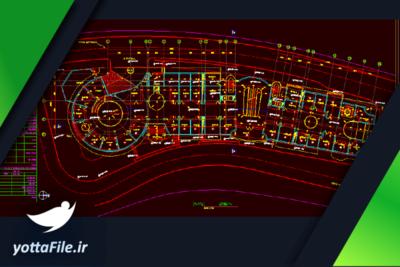 دانلود فایل پلان معماری ساختمان اداری تجاری   پروژه معماری ساختمان اداری تجاری طراحی شده با نرم افزار اتوکد با فرمت DWG   یوتا فایل مرجع فروش فایل در ایران