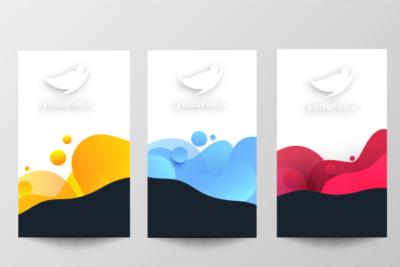 طرح بنر تجاری رنگ مایع - یوتا فایل مرجع دانلود و فروش فایل
